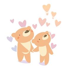 bears in love vector image