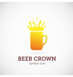 Beer Crown Concept Symbol Icon or Logo Template vector image