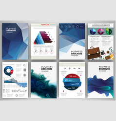 blue backgrounds abstract concept infographics vector image