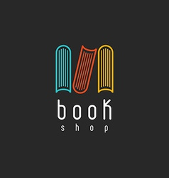 Book shop logo mockup of sign literature store vector image