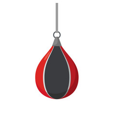 boxing pear attempts on sports equipment training vector image