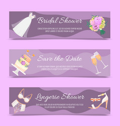 bridal shower set of banners vector image