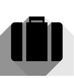 briefcase sign black icon vector image