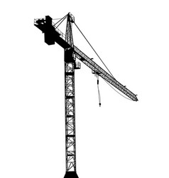 building crane on white background vector image