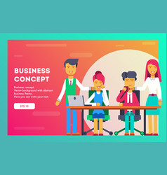 business concept business team vector image