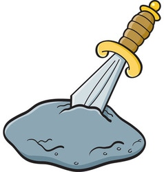 Cartoon sword in a stone vector