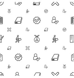 Check icons pattern seamless white background vector