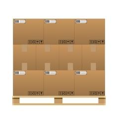 closed brown carton delivery boxes vector image vector image