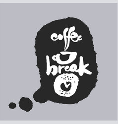 coffee break in a speech bubble vector image