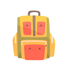 colorful backpack rucksack for school or travel vector image