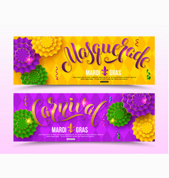 colorful masquerade carnival banner design for vector image