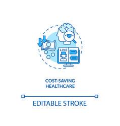 Cost saving healthcare concept icon vector
