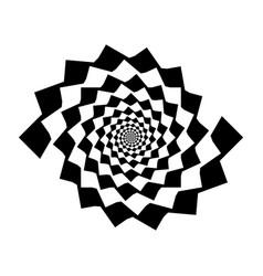 design monochrome spiral movement background vector image