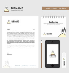 dish business letterhead calendar 2019 and mobile vector image
