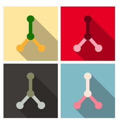 dna molecule bio abstract logo design vector image