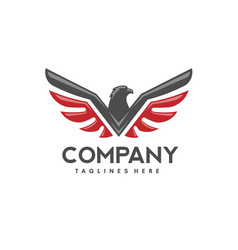 Eagle bird logo vector