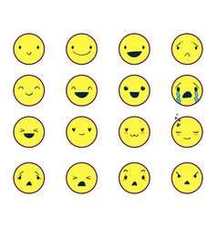 Emoticons round color 3 vector