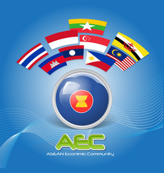 Flag of Asean Economic Community AEC 02 vector