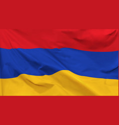 flag republic armenia vector image