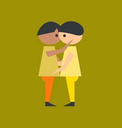 Flat icon on stylish background gay lovers vector