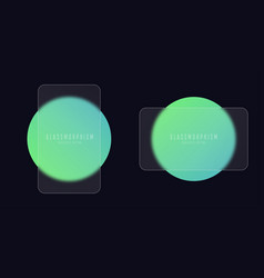 glassmorphism effect with set transparent glass vector image