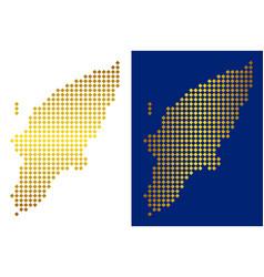 Golden dot greek rhodes island map vector