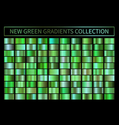 green ecology gradients set glossy shiny vector image