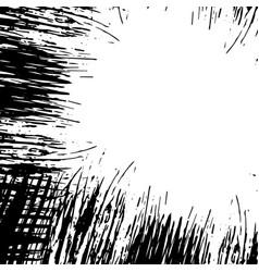 grunge black frame vector image