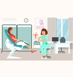 gynecologist consultation vector image