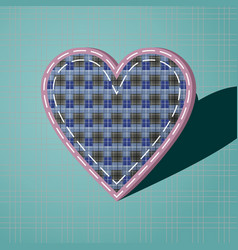 Heart with a checkered pattern vector