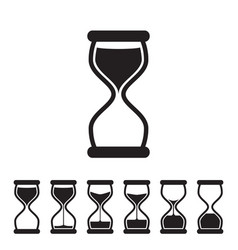 Hourglass collection vector