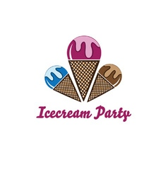 Icecream party vector