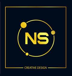 Initial letter ns logo template design vector