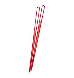 Japanese chopstick wooden utensil food cook shadow vector