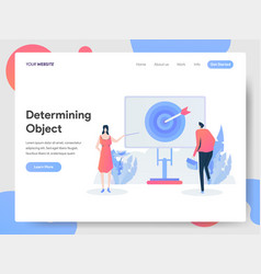 landing page template determining object vector image