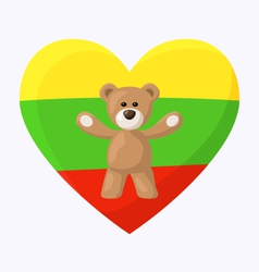 Lithuanian Teddy Bears vector image