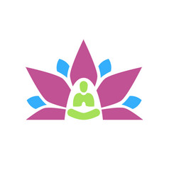 Lotus yoga aura plain graphic vector