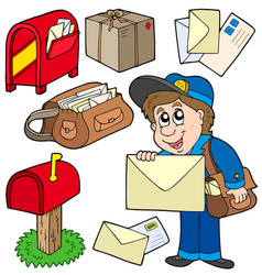 mail collection vector image