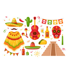 mexican day of dead vector image