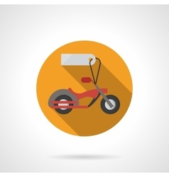 Motorbike for sale round flat color icon vector