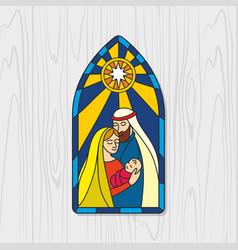 Nativity of jesus christ vector