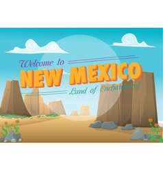 New Mexico postcard vector image