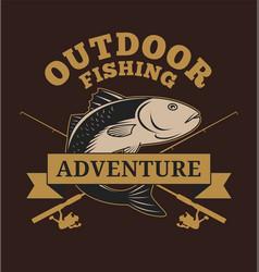 outdoor fishing adventure vector image