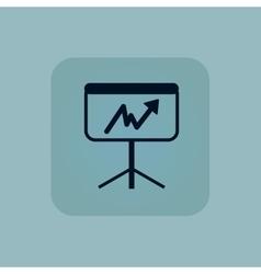 Pale blue graphic presentation icon vector