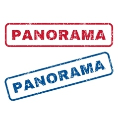Panorama rubber stamps vector