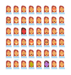 profile icon female different emotion set avatar vector image
