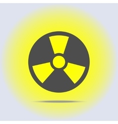 Radioactive icon in gray colors vector image