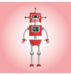Robot design Technology concept humanoid icon vector