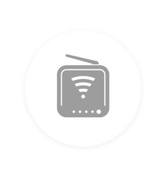 router icon pictogram vector image