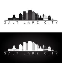 Salt lake city usa skyline and landmarks vector